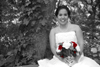 Bridal Photography - Black and White with Red Roses