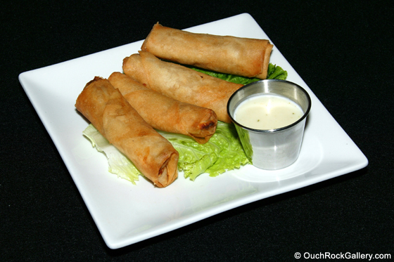 Restaurant and Food Photography - Cream Cheese Rolls